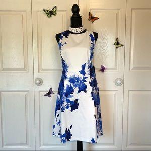 ralph lauren blue flower dress ralph lauren white leather sneakers